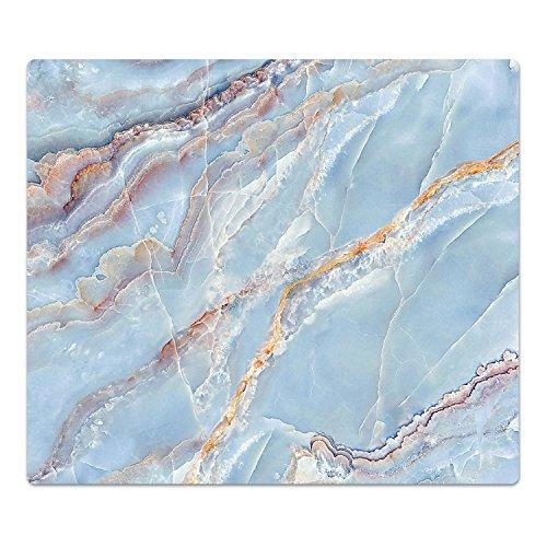 DekoGlas Herdabdeckplatte inkl. Noppen 'Marmor-Textur', gehärtetes Glas, Herd Ceranfeld Abdeckung, einteilig universal 52x60 cm