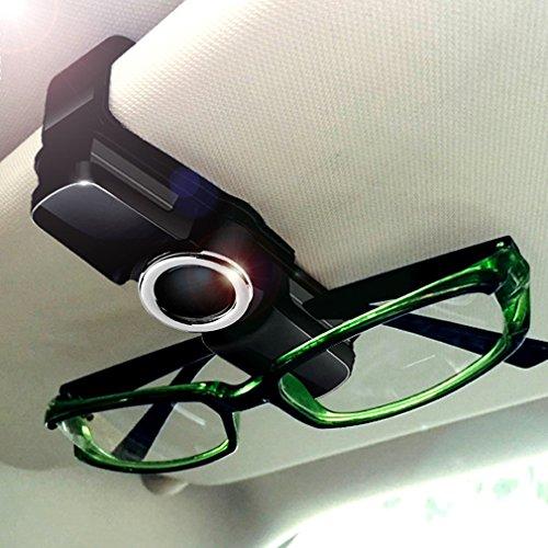 Luxebell Universal Auto Sonnenblende Klipp, 2 Pack Brillen Halter Clip für Sonnenbrille, Tickets, Karte, 360°-Drehung