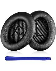 Almohadillas Auriculares Bose,TesRank Reemplazo Almohadilla Repuesto Cojínes Oído Espuma Almohadilla para Bose QuietComfort QC 2 15 25 35 AE2 AE2i AE2w SoundTrue SoundLink II Around-Ear - Negro