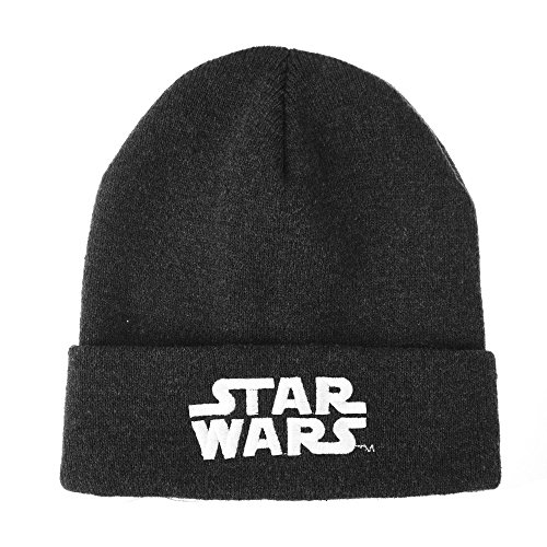 WITHMOONS Berretto Cappello Starwars Beanie Hat Storm Trooper Patch Licensed CR5548 (Charcoal)