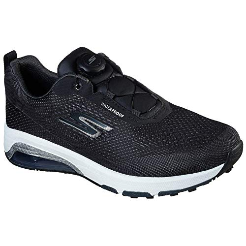 Skechers - Air Twist Boa Waterproof, Scarpe da golf per uomo, colore: bianco/nero, taglia 45,5 EU