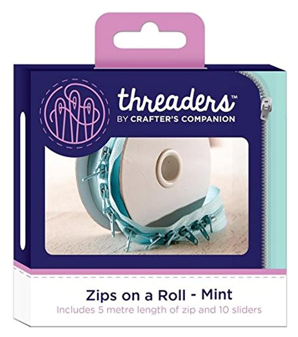 Crafter's Companion CC Threaders Zips On A Roll Mint