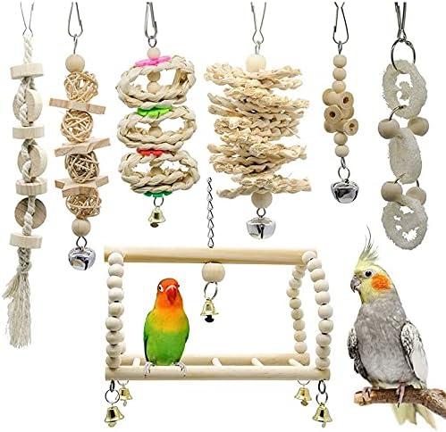 Max 79% OFF Ranking TOP8 7 PCS Set MT0001 Pet Parrot Swing Ladder Toy Stand Climbing Bird