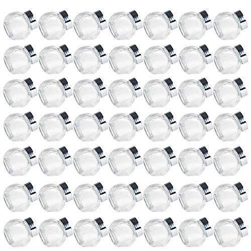Syntic 49 Pcs 1.5 oz (45mL) Mini Glass Favor Jars with Plastic Lids, Mason Jar Wedding Favors Honey Pot Bottle Idea for Spices, Candy, Party Favors and Candle Making