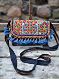 CRAFTING LOVE Una hermosa bolsa de trabajo con parche bordado Banjara para mujer, tamaño: 10 x 8 pulgadas