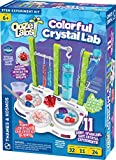 Thames & Kosmos Ooze Labs Colorful Crystal Lab STEM Experiment Kit & Lab Setup | Awesome Geometric Crystals, Dazzling Displays, with 11 Shiny, Sparkly, Safe Experiments | Stickers to Decorate Your Lab