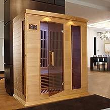 DYNAMIC SAUNAS Maxxus 3 Per Low EMF FAR Infrared Carbon Canadian Hemlock Sauna