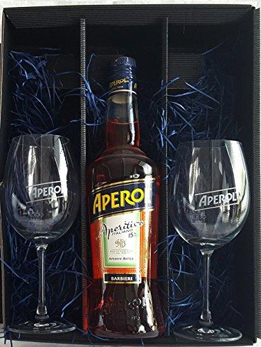 Aperol Geschenkset/Set ? Aperol Aperitivo Italiano 0,7L (15% Vol) +2x Aperol Gläser