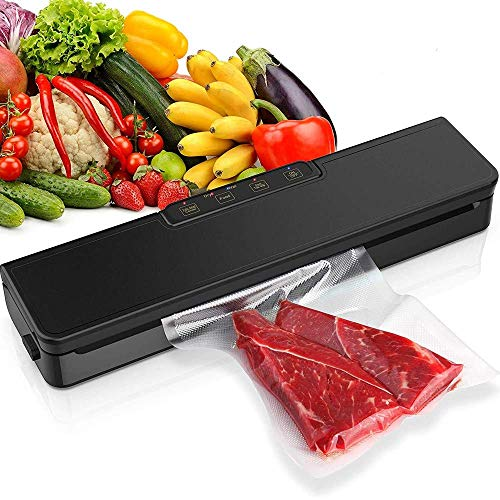 Vacuum Sealer Machine, Lightweight Food Saver with Dry & Moist Modes, Automatic Food Sealer Machine for Sous Vide Cooking and Food Storage, With 10 BPA-Free Seal Bags & 1 Hose LATT LIV