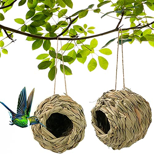 Humming Bird House Outdoor,Hand Woven Hummingbird Houses for Outdoors...