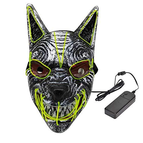 Hopeas Halloween LED Máscaras de Lobo Mascaras de...