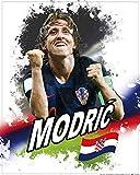 1art1 Fußball - Luka Modric, Kroatien Poster Kunstdruck 50