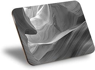 Destination Vinyl ltd Mantel individual de corcho 290 x 215 – BW – Antelope Canyon Page Arizona US Workplace/mantel de mes...