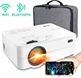 Mini Projector - Artlii Enjoy 2 HD WiFi Bluetooth Projector, 5000L 300' Display, Compatible with TV Stick, HDMI, iPhone, Android for Home Theater, Video Games