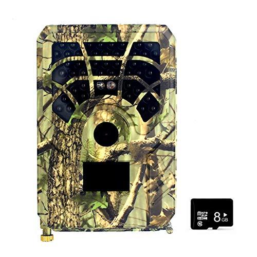 Blusea 5MP 480P PR300A Wildkamera mit 32/16/8 GB SD Card 46 PCS Infrarot-LEDs und IP56 Wasserdicht Jagdkamera Nachtsichtkamera
