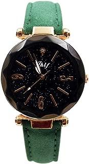 Womens Starry Sky Dress Wristwatch, Balakie Luxury PU Leather Band Casual Analog Quartz Watch-A152 Unique Lovers Gift