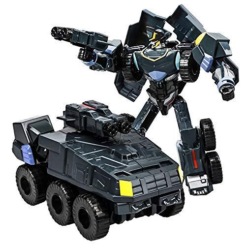 Kikioo Mini Kinder Verformung Auto Roboter Verformung Auto Manuelle Transformator Auto Spielzeug Inertial Transformation Autobots Spielzeug Modell Fahrzeug Legierung Panzer Panzerwagen Spielzeug Kinde