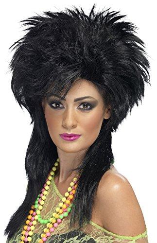 Smiffys - SM42169 - Perruque Femme Groovy Punk Noir - Taille Unique