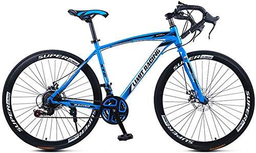 LJXiioo Vélo de Route, vélo de Route 700C à Suspension complète, Freins à Disque 21 Vitesses, vélo de Route pour Hommes et Femmes,B
