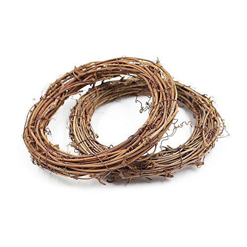 Grapevine Rattan Wreath Hanging Wedding Christmas Party Twiggy Garland Home Decoration(20cm) Pack of 5