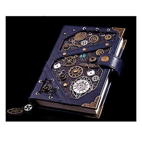 cuadernos de notas Tapa dura portátil caja de regalo, revistas en blanco Comentario Diario de Bloc de notas cuaderno de bocetos de viaje en el, de papel sin forro, retro colgante, estilo steampunk. bl
