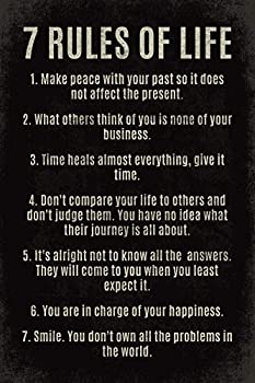 7 Rules Of Life motivational poster print