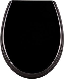 LARS360 Toiletdeksel, wc-bril met softclosemechanisme, ovale wc-bril, antibacterieel wc-deksel, wc-bril van duroplast, puu...