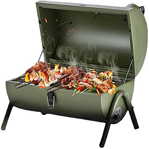 REWD Outdoor Grill Tragbarer Grill Holzkohle für Outdoor Kochen Wandern Picknick Terrasse Smoker Indoor Multifunktional