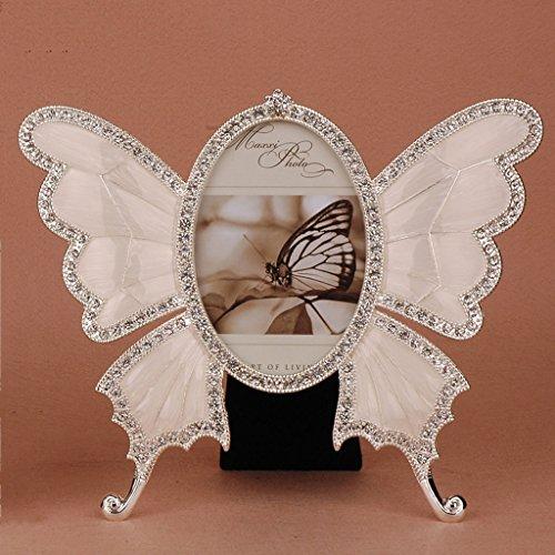WCN Individualidad Marco Creativo de la Foto de la Forma de la Mariposa de la Moda Creativa, Marcos de la Foto de la habitación de los niños de la Frontera del Metal, Marco Europeo de l