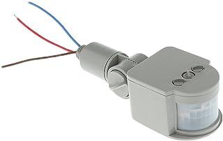 Blesiya Adjustable Auto 12M Infrared Motion Sensor Detector PIR Safe Wall Door LED Light - Black