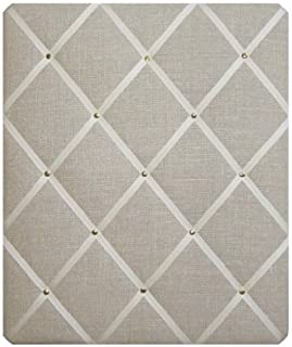 Laura Ashley Linen Austin Fabric, Ready to Hang/Notice Boards/Memo Boards/Large 48x40cm, Bulletin Boards, Message Boards