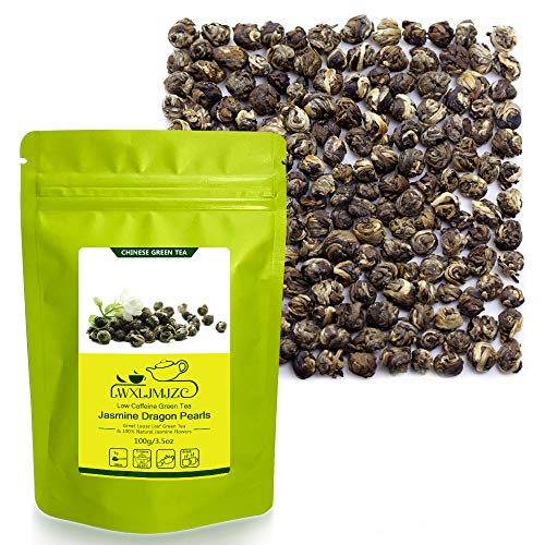 ZJZ 100g-50杯 ジャスミン茶 中国茶 茉莉龍珠 白龍珠 Jasmine Tea 茉莉花茶 緑茶