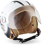 """Soxon SK-55 """"Fun White"""" · Kinder-Jet-Helm · Kinder-Helm Motorrad-Helm Roller-Helm Kids..."""