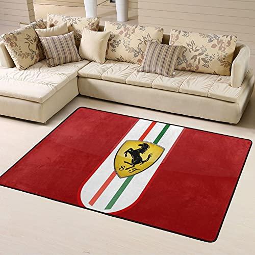Large Puzzle Ferrari Alfombra de cocina antideslizante para piso de cocina, con absorción de agua, especializada en...