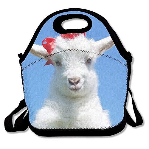 Bolsa de almuerzo con correa para niños y adultos con diseño de animales