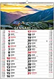 """Calendario 2021 da Muro Fotografico """"Giro del Mondo"""" per Casa e Ufficio - In Carta ECOLOGICA al 100% - 29,7x42 cm"""
