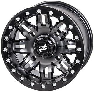 4/137 Tusk Teton Beadlock Wheel 14x7 4.0 + 3.0 Gun Metal/Black for Can-Am Commander Max 1000 DPS 2014-2018