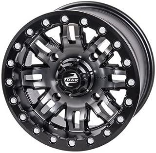 4/156 Tusk Teton Beadlock Wheel 14x7 4.0 + 3.0 Gun Metal/Black for Polaris RANGER RZR XP 4 TURBO DYNAMIX Edit. 2018