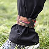 SAMSFX Neoprene Ankle Pant Garters Camouflage Leafy Straps Bands Magic Tape for Fly Fishing Wading Riding and Cycling 1 Pair (Stretchy, Camouflage)