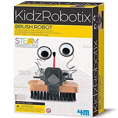 4M 4574 Brush Robot DIY Science Engineering Robotics Kit - Educational Stem Toys Gift for Kids & Teens, Boys & Girls (Packaging May Vary)