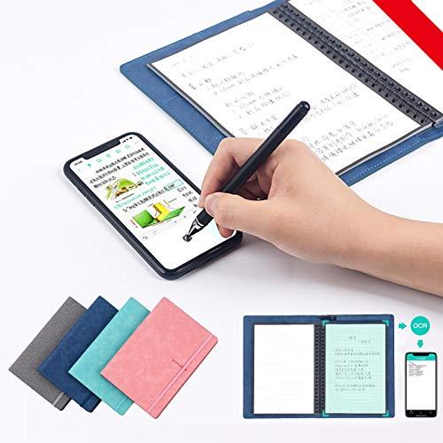 LXT-KL Elfinbook - Cuaderno reutilizable inteligente, con forro ecológico, uso con aplicación, revistas reutilizables, almohadilla digital de escritura inteligente para negocios, académico y arte