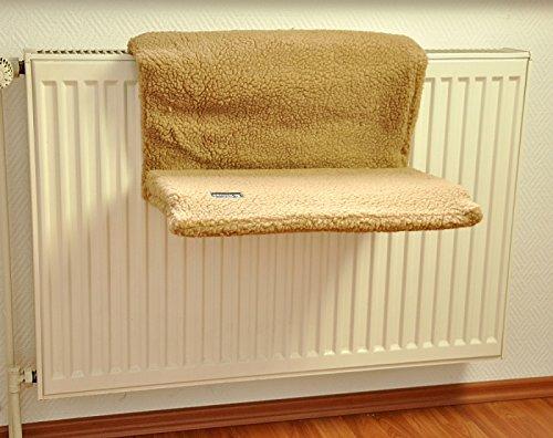 nanook Katzen Heizungs-Liege Liegemulde Dream, XL, kuscheliges Plüsch, beige, 47 cm Länge