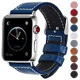 Fullmosa kompatibel mit Apple Watch Armband 42mm 44mm,Leder Uhrenarmband,Ersatzarmband für iWatch...