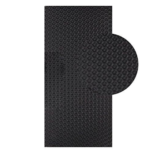 Langlauf Schuhbedarf Sohlengummiplatte 250mm x 500mm 4mm stark Profil Star in verschiedenen Farben zur Anfertigung von Schuhsohlen oder als Anti Rutsch Belag - 4 mm Stärke (schwarz)