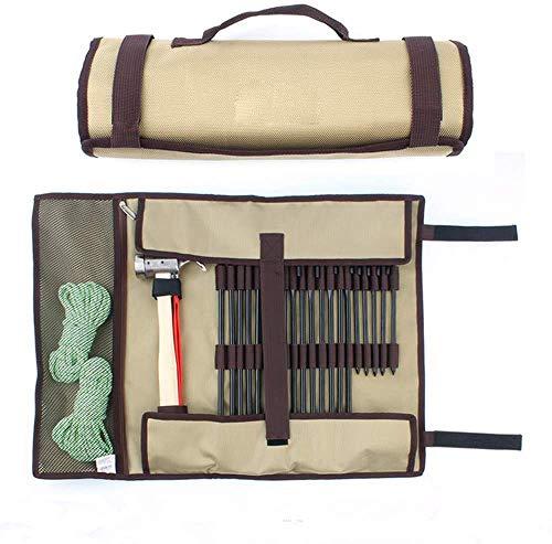 AMhuui Sac Nail Camping en Plein air, Équipement Simple Facile Kit Sac Plein air Sauvage Kit, Camp de Stockage Tente Marteau Portable Grand