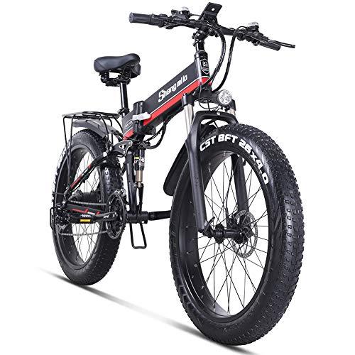 Shengmilo-MX01 26 Pouces vélo de Neige électrique, 1000W 48V 13ah...