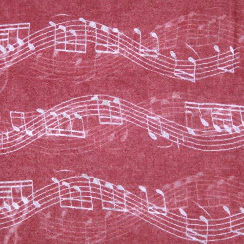 diarylook Damen Lovely und weichem Musik Note Druck Schal Gr. One size, kastanienbraun - 3