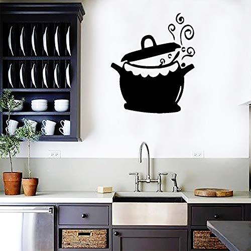 yaonuli Sticker Mural poêle à Frire Vinyle Autocollant Mural Chef Pot Cuisine Cuisine Cuisson Murale étanche décoration de la maison42X50 cm