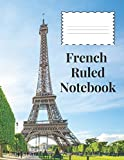 French Ruled Notebook: French Ruling For Handwriting, Calligraphers, Kids, Student, Teacher. 8.5 x 11 120 Pages