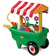 FUN IN THE GARDEN - Your green-fingered little one can cultivate the garden with this 2-in-1 garden cart and wheelbarrow! With its fun, traditional styling, children will love pottering around and keeping the garden in check. Ages 2 to 5 years WORKIN...